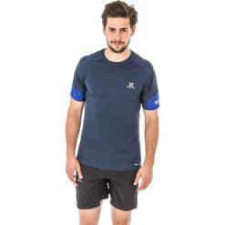 Salomon Koszulka męska Agile Tee Dress Blue r. M (392612). Niebieskie t-shirty męskie Salomon, m. Za 90,23 zł.