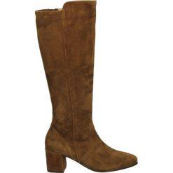Kozaki - 5255100 BAMBI. Brązowe buty zimowe damskie Venezia, ze skóry. Za 349,00 zł.