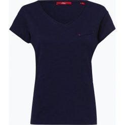 S.Oliver Casual - T-shirt damski, niebieski. Niebieskie t-shirty damskie s.Oliver Casual, s, z dżerseju. Za 39,95 zł.