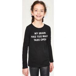 Bluzka z długim rękawem - Czarny. Czarne bluzki dziewczęce z długim rękawem Reserved. Za 14,99 zł.