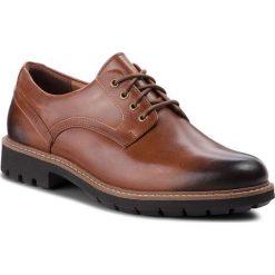 Półbuty CLARKS - Batcombe Hall 261275517  Dark Tan Leather. Brązowe półbuty skórzane męskie Clarks. W wyprzedaży za 229,00 zł.