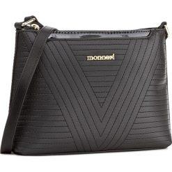 Torebka MONNARI - BAGA022-020 Black. Czarne listonoszki damskie Monnari, ze skóry ekologicznej. W wyprzedaży za 119,00 zł.