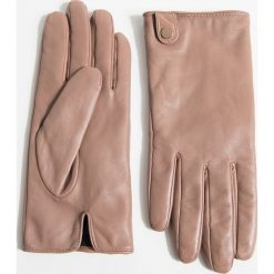 Rękawiczki. Różowe rękawiczki damskie Simple, z poliesteru. Za 179,90 zł.