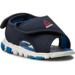 Sandały Reebok - Wave Glider II BD4263 Collegiate Navy/Horiz Blu. Niebieskie sandały męskie skórzane marki Reebok. Za 79,00 zł.