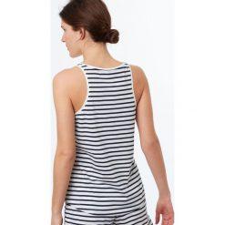 Etam - Top piżamowy Jeanne. Niebieskie piżamy damskie marki Etam, l, z bawełny. W wyprzedaży za 39,90 zł.