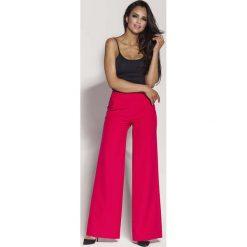 Malinowe Spodnie z Szerokimi Nogawkami. Czerwone spodnie z wysokim stanem Molly.pl, z materiału. Za 169,90 zł.