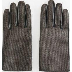 Skórzane rękawiczki - Szary. Szare rękawiczki męskie Reserved. Za 99,99 zł.