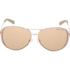 Michael Kors Okulary przeciwsłoneczne light brown. Brązowe okulary przeciwsłoneczne damskie lenonki marki Michael Kors. Za 499,00 zł.