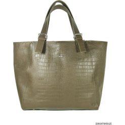 Shopper XXL Khakissimo Crocodile. Brązowe shopper bag damskie marki Pakamera, ze skóry, na ramię. Za 730,00 zł.