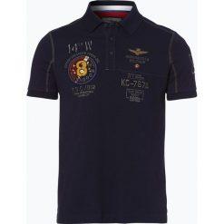 Aeronautica - Męska koszulka polo, niebieski. Niebieskie koszulki polo Aeronautica, m, z haftami. Za 449,95 zł.