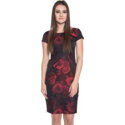 Elegancka sukienka we wzory BIALCON. Brązowe sukienki balowe marki BIALCON. W wyprzedaży za 170,00 zł.