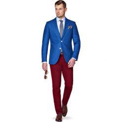 Marynarka Niebieska Terry. Niebieskie marynarki męskie marki LANCERTO, w kolorowe wzory, z bawełny. W wyprzedaży za 299,90 zł.
