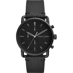 Zegarek FOSSIL - The Commuter Chrono FS5504  Black. Różowe zegarki męskie marki Fossil, szklane. Za 669,00 zł.