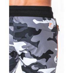 SPODNIE MĘSKIE DRESOWE P657 - SZARE/MORO. Szare spodnie dresowe męskie Ombre Clothing, moro, z bawełny. Za 69,00 zł.