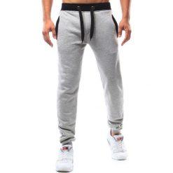 Spodnie dresowe męskie: Spodnie męskie dresowe szare (ux0956)