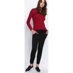 Spodnie damskie: Czarne Spodnie Dresowe You Said