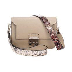 Torebki klasyczne damskie: Skórzana torebka w kolorze taupe – (S)26 x (W)15 x (G)8 cm
