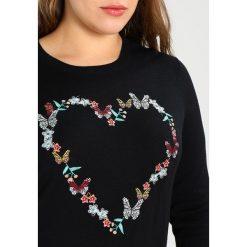 Swetry klasyczne damskie: Evans HEART  Sweter black & multicoloured