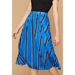 Spódnica w paski - Niebieski. Niebieskie spódniczki dziewczęce Reserved, w paski. W wyprzedaży za 24,99 zł.
