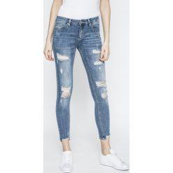 Answear - Jeansy. Niebieskie jeansy damskie ANSWEAR, z bawełny. W wyprzedaży za 119,90 zł.