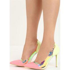 Szpilki: Limonkowo-Różowe Neonowe Szpilki Demi