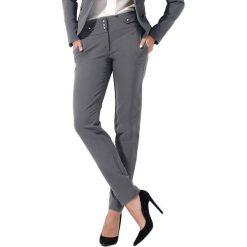 Spodnie z wysokim stanem: Spodnie w kolorze popielatym