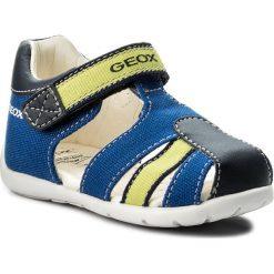 Sandały GEOX - B Elthan B. A B821PA 01054 C4344 M Royal/Lime. Niebieskie sandały męskie skórzane marki Geox. W wyprzedaży za 149,00 zł.