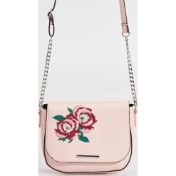 Torebki klasyczne damskie: Mini torebka z aplikacją – Różowy