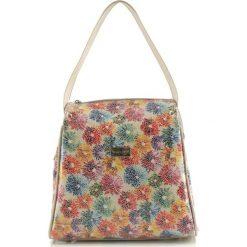 Torebki klasyczne damskie: Skórzana torebka w kolorze białym – (S)27 x (W)25 x (G)16 cm