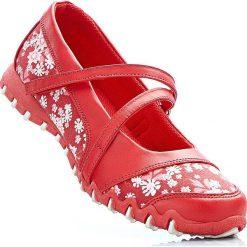 Baleriny bonprix czerwony w kwiaty. Czerwone baleriny damskie lakierowane bonprix, w kwiaty. Za 37,99 zł.