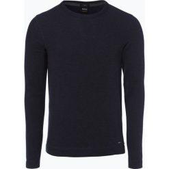 T-shirty męskie: BOSS Casual – Męska koszulka z długim rękawem – Tempest, niebieski
