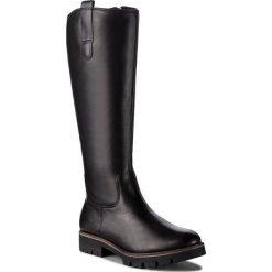 Oficerki CAPRICE - 9-25610-21 Black Nappa 022. Czarne buty zimowe damskie Caprice, z materiału, na obcasie. W wyprzedaży za 299,00 zł.