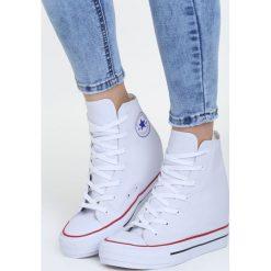Białe Sneakersy Aspen. Białe sneakersy damskie Born2be, z materiału. Za 49,99 zł.