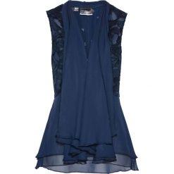 Kamizelki damskie: Kamizelka bluzkowa z koronką bonprix ciemnoniebieski