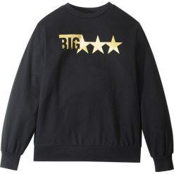 Bluza dresowa bonprix czarny z nadrukiem. Białe bluzy chłopięce rozpinane marki FOUGANZA, z bawełny. Za 37,99 zł.