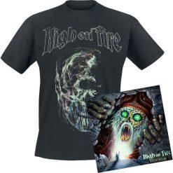 High On Fire Electric messiah CD + T-Shirt standard. Czarne t-shirty damskie High On Fire, l, z bawełny. Za 114,90 zł.