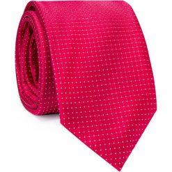 Jedwabny krawat KWTR000284. Czerwone krawaty męskie Giacomo Conti, z jedwabiu. Za 129,00 zł.