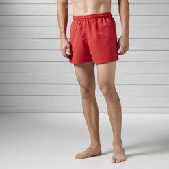 BW BASIC BOXER. Czerwone spodenki i szorty męskie Reebok, na wiosnę, z materiału, sportowe. Za 39,99 zł.