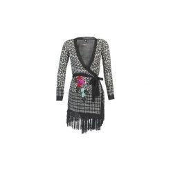 Swetry rozpinane / Kardigany Desigual  ISKINE. Szare kardigany damskie Desigual, l. Za 208,45 zł.