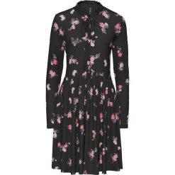 Sukienki hiszpanki: Sukienka shirtowa w kwiaty bonprix czarny w kwiaty