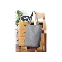 Shopper bag XL szara torba na zamek Vegan. Szare shopper bag damskie Hairoo, w paski. Za 155,00 zł.