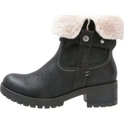 Anna Field Botki kowbojki i motocyklowe black. Czarne buty zimowe damskie marki Anna Field, z materiału. W wyprzedaży za 159,20 zł.