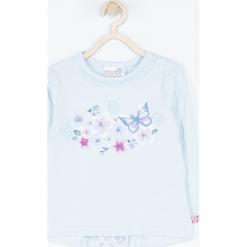 Koszulka. Niebieskie bluzki dziewczęce bawełniane marki bonprix, z długim rękawem, długie. Za 45,90 zł.