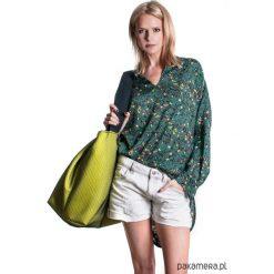 Torba shopper Fio-Big Lemon. Szare shopper bag damskie Pakamera, w koronkowe wzory, z bawełny, na ramię, duże, z koronką. Za 149,00 zł.