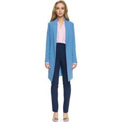 ADELE Blezer płaszcz na jeden guzik - niebieski. Niebieskie płaszcze damskie pastelowe Stylove, biznesowe. Za 189,90 zł.
