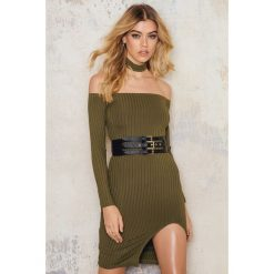 Sukienki hiszpanki: Passion Fusion Sukienka Bez ramion – Green