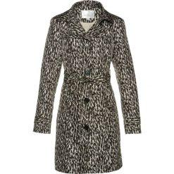 Płaszcze damskie: Płaszcz trencz bonprix czarno-kamienisty z nadrukiem