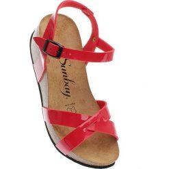 """Rzymianki damskie: Sandały """"Pivoine"""" w kolorze czerwonym"""