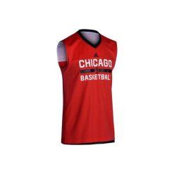 Koszulka NBA Bulls. Czarne topy sportowe damskie marki Adidas, xl. W wyprzedaży za 99,99 zł.