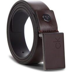 Pasek Męski CALVIN KLEIN - 3Cm Adj.Plaque Belt K50K504241 201. Brązowe paski męskie Calvin Klein, w paski, ze skóry. Za 279,00 zł.